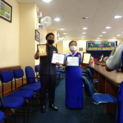 Best Scout Master of year 2020 from Khonglah Sec School West jaintia Hills