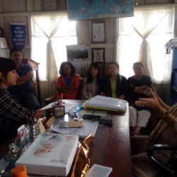 Doreen DM EKH Visit to Mizo Modern Higher Sec school,interacted with the Principal & teachers.