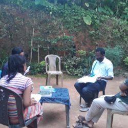 Teacher of Bhajamara Sec School home visit their students